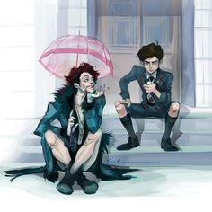 Neat artwork of a show called Umbrella Academy apparently, I haven't watched it but I like this artwork. Neat artwork of a show called Umbrella Academy apparently, I haven't watched it but I like this artwork. Fanart, Under My Umbrella, Umbrella Art, Fandoms, Film Serie, My Chemical Romance, Movies Showing, Character Design, Creations