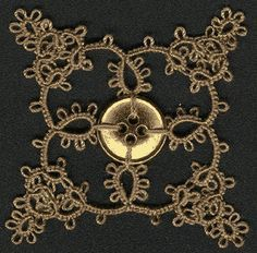tatting with buttons patterns | Button Flower III