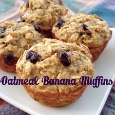 Oatmeal Banana Muffins - easy, tasty, totally customizable, and kid-friendly! (Gluten-free, too.)