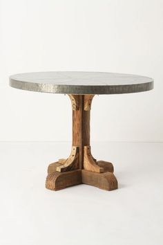 Galvanized Pedestal Table - anthropologie.com