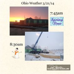 Crazy weather here in Ohio but that's not stopping the progress on our NEW Ashland Design Studio! Way to go! #schumacherhomes Visit a Design Studio nearest you www.schumacherhomes.com/location.
