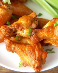 Baked Buffalo Wings - Real Food with Jessica Paleo Whole 30, Whole 30 Recipes, Real Food Recipes, Chicken Recipes, Cooking Recipes, Healthy Food List, Healthy Snacks, Healthy Eating, Healthy Recipes