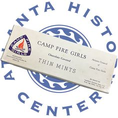 With cookie season upon us the Atlanta History pulled this box out from the collections. Camp Fire Girls in Atlanta began selling Thin Mints in the 1950s. Check out the ingredients list - holy sugar!
