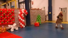 Christmas balloon decoration // decoraçao de natal com baloes