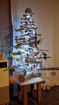 Sapin de Noël en bois Flotté et design à faire soi-même   pallets ...