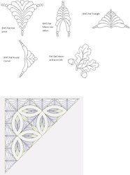 Shop | Category: Digitized patterns for Judy Niemeyer quilts | Product: Pats Bali Wedding Star