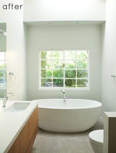 wood and minimal bath