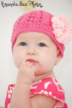 Pattern for a Crochet Summer Baby Hat with Changeable by jspirik, $4.00