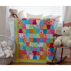 Baby Quilt Kit Bright 100 Cotton PRE CUT par MyFabricAddiction1, $30.00