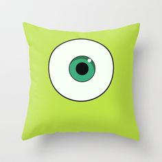Mike Wazowski, Monsters Inc. Throw Pillow by Gabsnisen - $20.00
