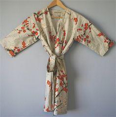 Graue Kimono Robe. Grau-Kimono. von ModernKimonoRobes auf Etsy