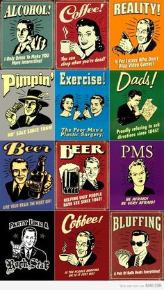 Retro Spoof Posters. I've always liked such posters.