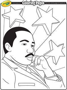 Printable Martin Luther King Coloring For Kids  Black History