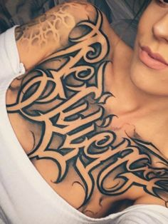 One of my favourite chest pieces. Gangsta Tattoos, Badass Tattoos, Sexy Tattoos, Life Tattoos, Body Art Tattoos, Sleeve Tattoos, Chicano Tattoos Lettering, Tattoo Lettering Fonts, Tattoo Script