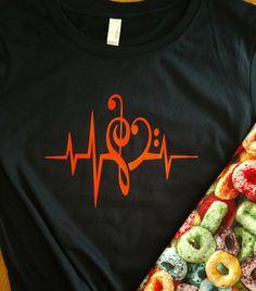 Soul Music T-Shirt...Cool Heart Beats Treble Clef Bass Music Shirt, Symphony Choir Band Orchestra Tee, Musical Vibes, Fun unisex Gift, S-5XL by JBirdApparelCo on Etsy