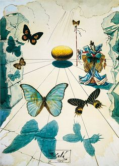 Salvador Dali - Butterflies - Surrealism