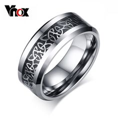 cool 100% Tungsten Metal Men's Ring Christian Trinitas Trinity Design 8mm Width Male Jewelry 15.82 $