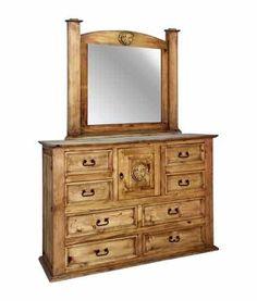 Texas Star Texas Star Dresser/Mirror By Rustic Specialists