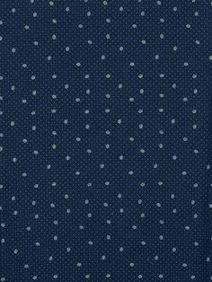Tissu #jean bleu foncé imprimé petites couronnes