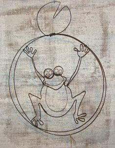 grenouille en fil de fer décoration murale latelierdesof.com