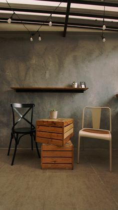 Al fresco. We love how having a creative environment also encourages clients to add in some quirky ideas. That crate turned table is one of them. Kubota, Fresco, Crates, Collaboration, Spoon, Environment, Restaurant, Drink, Creative