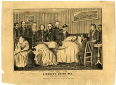 """Lincoln's Death Bed"" by H.H. Lloyd & Co. 1865. Number of people: 12 (Willie was never actually there)."