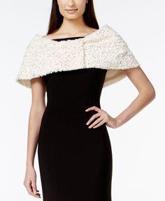 Sl Fashions Faux-Fur Sequin Stole
