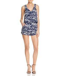 88.00$  Watch here - http://vicwd.justgood.pw/vig/item.php?t=8to3hj753311 - AQUA Graphic Print Popover Romper - 100% Exclusive 88.00$