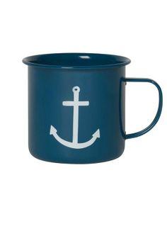 Galleon Anchor Tin Mug from Danica at Art Effect
