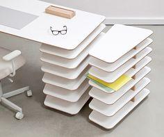 Interlocking desk and storage system