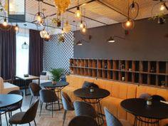 Caffe & Wine Slobozia - amenajare cafenea - Roomzia - Design Interior Online Interiors Online, Conference Room, Tropical, Wine, Interior Design, Modern, Table, Furniture, Home Decor