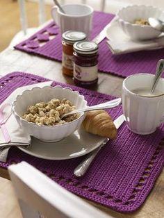 Tischset häkeln mit einfacher Anleitung