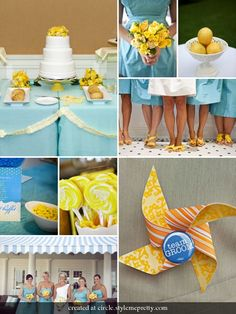 yellow & blue wedding colors