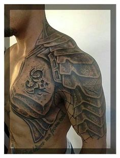 Image result for shoulder armour tattoo