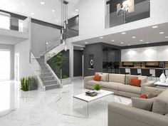 Other down stairs living room Simple House Design, Dream Home Design, Modern House Design, Dream House Interior, Interior Design Living Room, Living Room Designs, Casa Loft, Classic Living Room, House Rooms