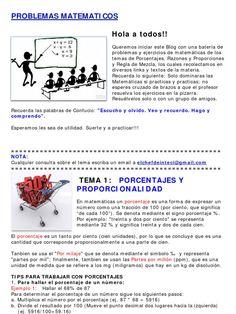 Recopilacion de Ejercicios de Matematicas - Porcentajes, Proporciones y Regla de…