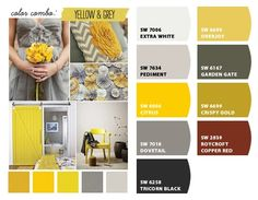 Gray and Mustard Paint colors from Chip It! by Sherwin-Williams