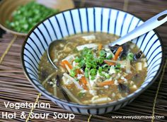 Vegetarian Hot and Sour Soup  4 Weight Watchers Points Plus