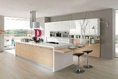 Bar Kitchen, Cuisine Design, Contemporary White, White Kitchen Designs ...
