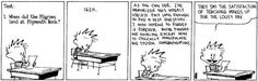 Post with 1416 votes and 115628 views. Tagged with Funny; Shared by LuckyDan. One of my favorite Calvin and Hobbes strips. Sums my opinion on the education system completely. Calvin And Hobbes Comics, Best Calvin And Hobbes, Plymouth Rock, Education System, Education Humor, We Are The World, Comic Strips, Laugh Out Loud, The Funny