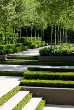 garten anlegen The landscape garden - modern tendencies in gardening Small Garden Landscape Design, Modern Garden Design, Contemporary Garden, Landscape Designs, Modern Landscaping, Backyard Landscaping, Landscaping Ideas, Backyard Ideas, Lawn And Garden