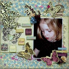 Love *New Kaisercraft* Scrapbook Page Layouts, Scrapbook Pages, Baby Scrapbook, Gallery Wall, Love, Frame, Day, Projects, Crafts
