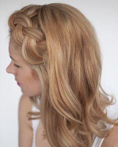 Messy fringe or bangs? Braid them! This is also a great trick for hiding an oily fringe too. Just add a little dry shampoo and then braid it away xx