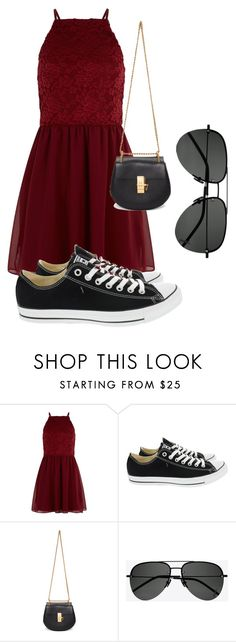"""""""Untitled #85"""" by queen-alice20 on Polyvore featuring New Look, Converse, Chloé and Yves Saint Laurent"""