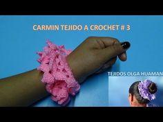 carmines tejidos a crochet para el cabello Diy Hair Scrunchies, Crochet Bows, Vinyl Wallpaper, Crochet Videos, Crochet For Beginners, Diy Hairstyles, Arm Warmers, Youtube, Headbands