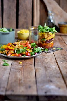 Enchilada Salat - Enchilada Salad In A Jar | Das Knusperstübchen