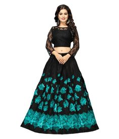 Buy This Ethnic Satin Semi-Stitched Lehenga Choli For Women (Blackbeige, Free Size) – Nena Fashion At Best Price in India Which Offers You Elegant Look. Black Lehenga, Anarkali Lehenga, Lehenga Choli Online, Ghagra Choli, Anarkali Suits, Only Girl, Indian Wear, Silk Satin, Fashion Online