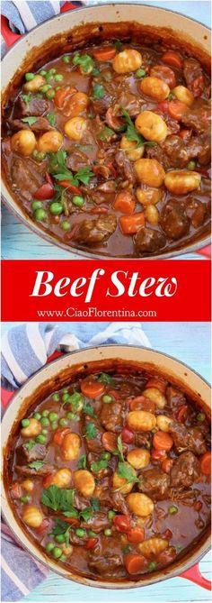 Homemade Beef Stew with Gnocchi Dumplings | http://CiaoFlorentina.com @CiaoFlorentina