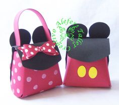 Bolso y morral de Minnie & Mickey mouse en foami...=)