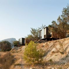 Modern hotel designed by Vivood Landscape Hotels, situated in Spanish town of Benimantell.